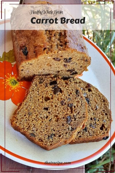 Carrot Bread - A lighter and healthier version of Mimi's Café Carrot Bread made with whole grains and less fat and sugar.