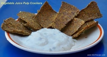 Juice Pulp Crackers