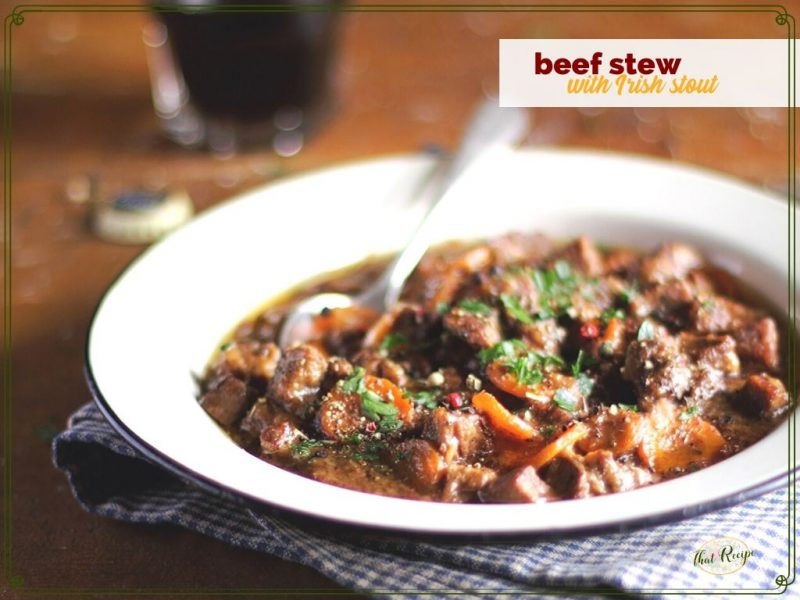 beef stew in a bowl on a table