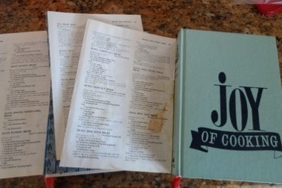 top down view of two copies of Joy of Cooking Cookbook