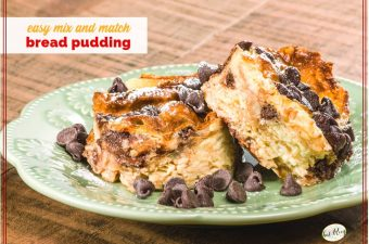 bread pudding on a plate