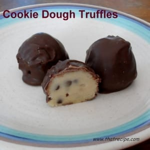 Chocolate Chip Cookie Dough Truffles - thatrecipe.com