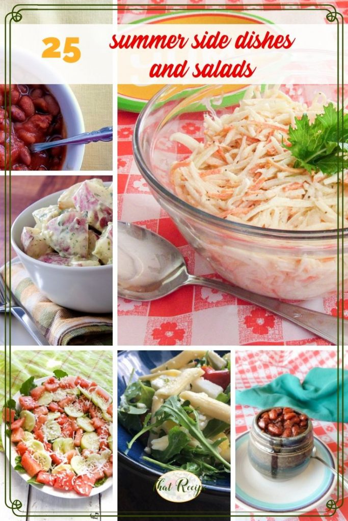 collage of summer side dishes