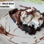 Gluten Free Nutella Swirled Black Bean Brownies - brownies made with black beans instead of flour for a high protein and fiber gluten free treat.