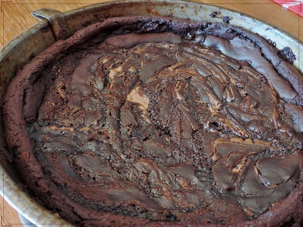 Nutella Swirled Black Bean Brownies - gluten free brownies made with black beans instead of flour swirled with chocolate hazelnut spread.