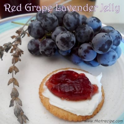 Red Grape Lavender Jelly - thatrecipe.com