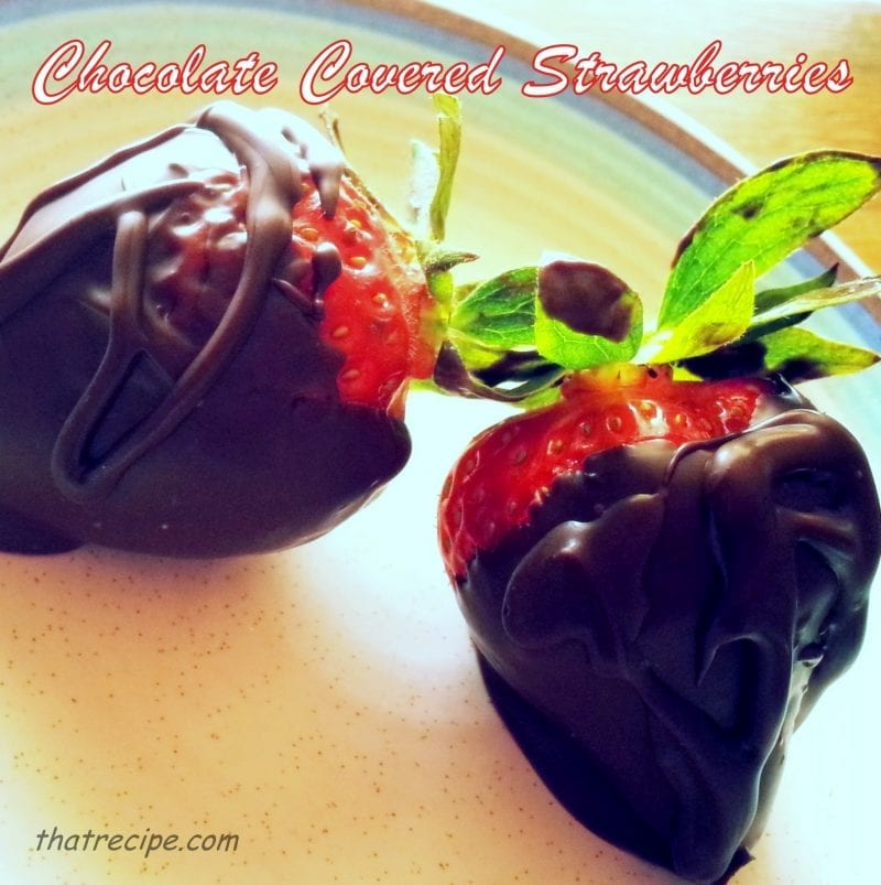chocolate covered strawberries - thatrecipe.com