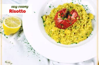 risotto on a plate
