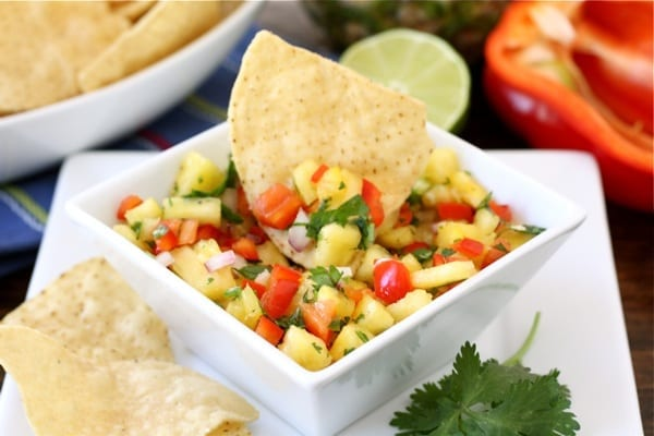 Pineapple Salsa from Two Peas and Their Pod