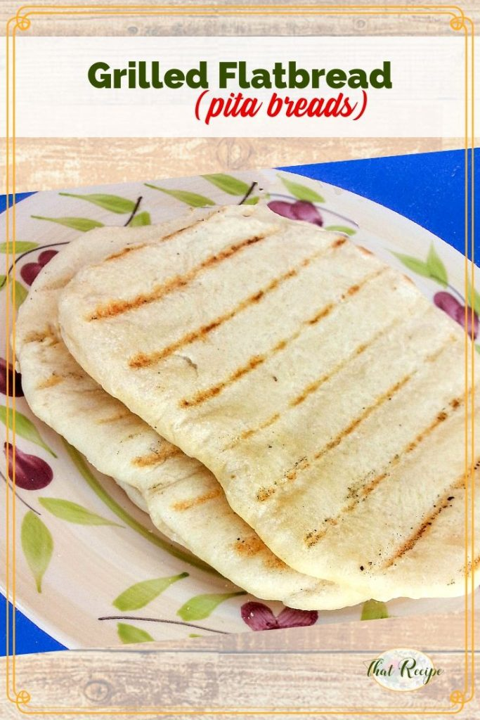 grilled flatbreads on a plate