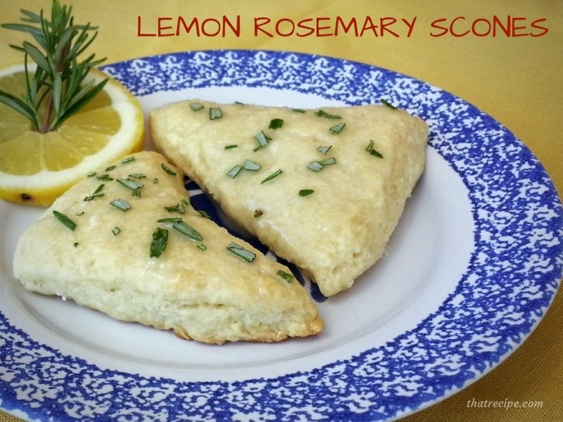Pioneer Woman's Lemon Rosemary Scones