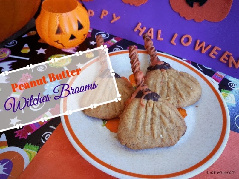 Halloween cookies Peanut Butter Witches Brooms