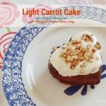 Carrot Cake Light with Pineapple Cream Cheese Icing