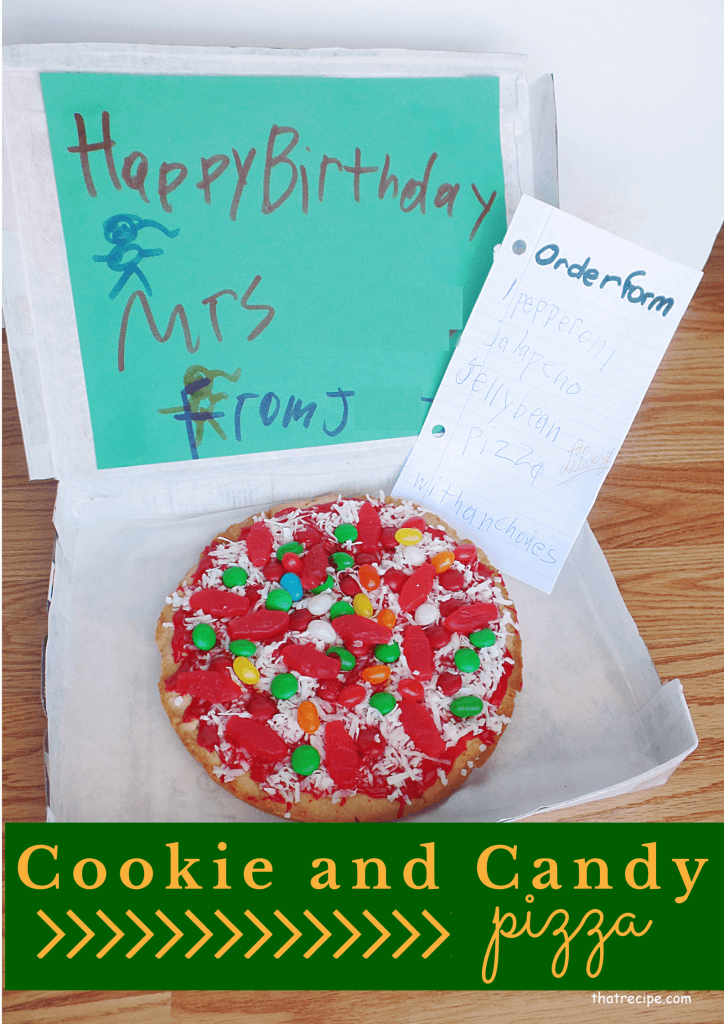 Cookie Pizza in a delivery box