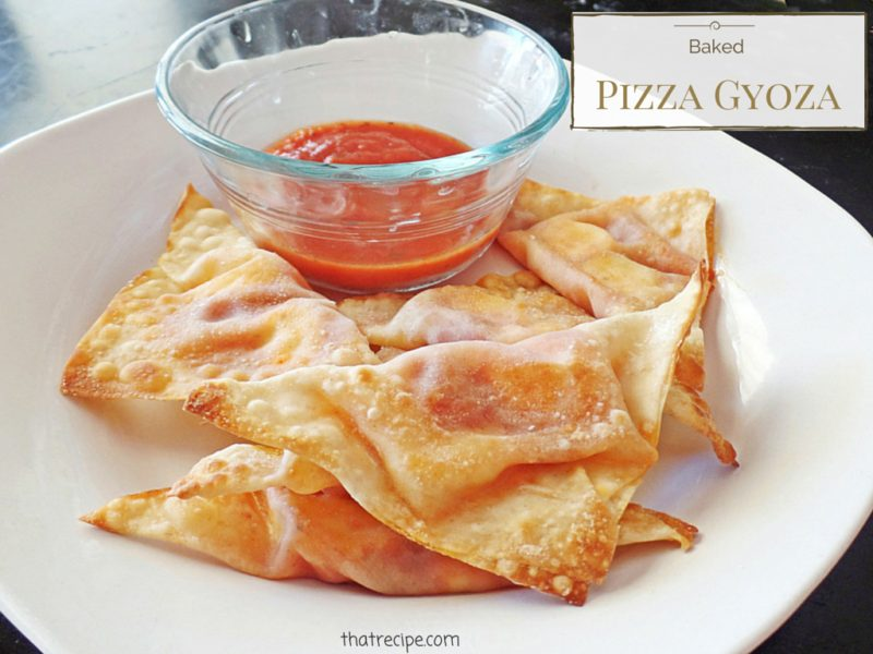 Baked Pizza Potstickers