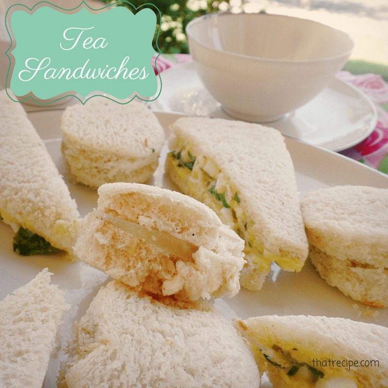 Cucumber Sandwiches and Watercress Sandwiches