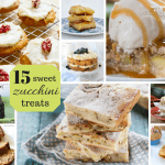 Zucchini dessert recipes: Cakes, breads, brownies, muffins, cookies, pies and cobbler all made with zucchini.