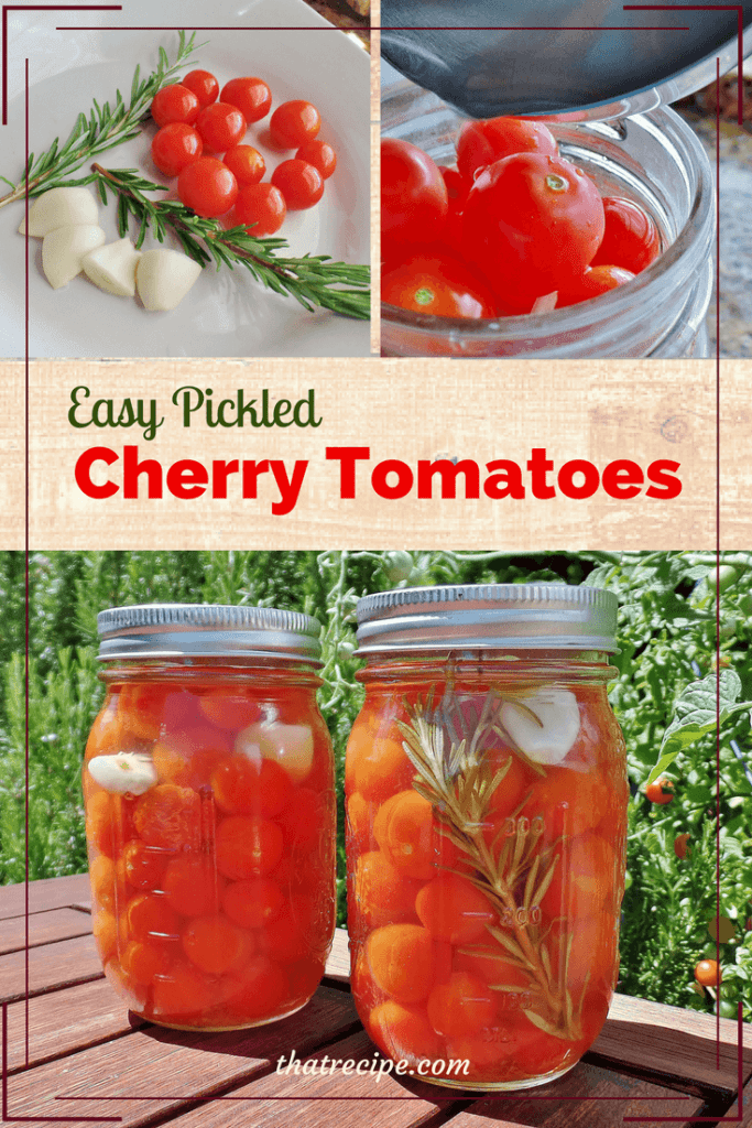 Save your harvest and make these easy pickled cherry tomatoes.