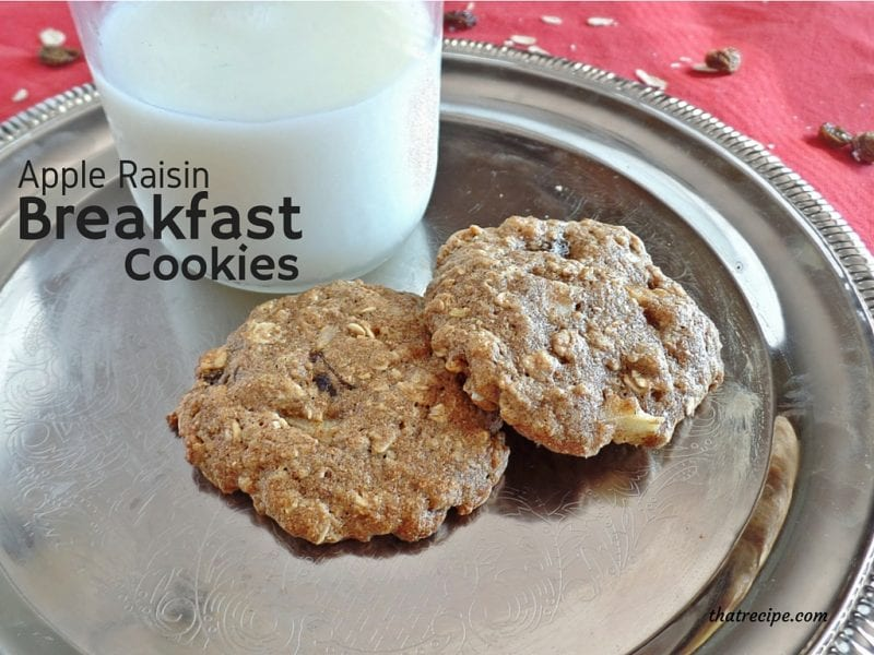apple oatmeal raisin breakfast cookie