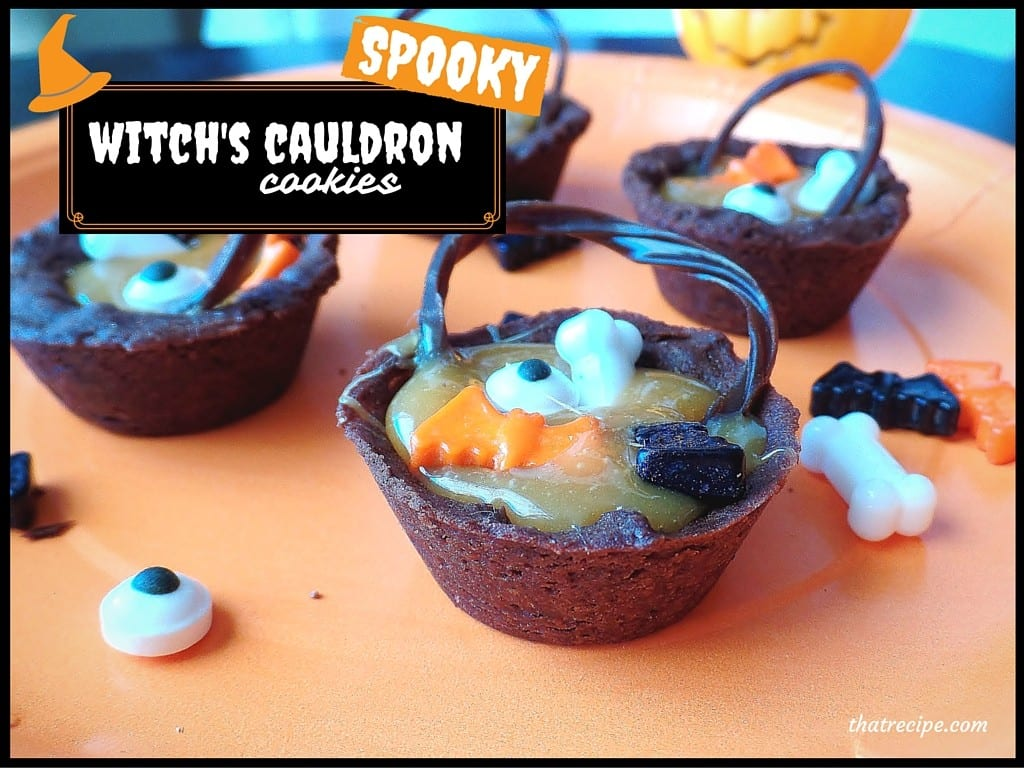 Witch's Cauldron Halloween Cookies