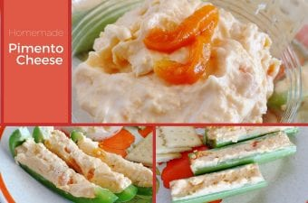 collage of pimento cheese photos