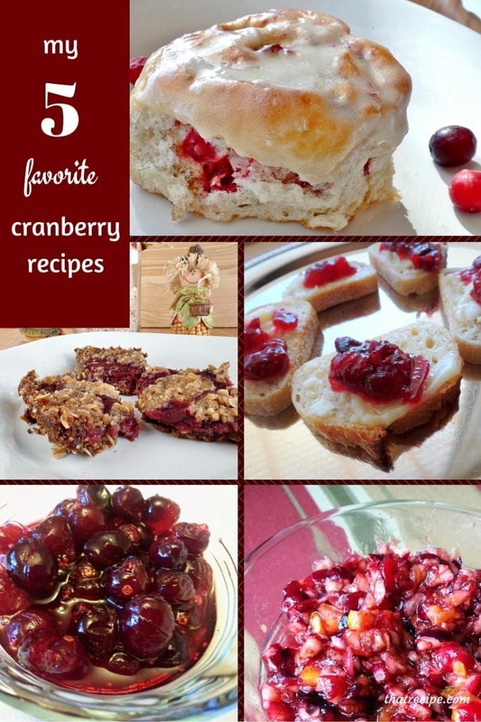 Five Cranberry Recipes