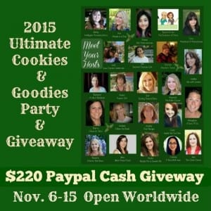 Paypal Cash Giveaway graphic 220.00. 2015 Ultimate Cookie Party