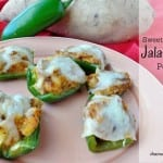 Sweet Potato Stuffed Jalapeno Poppers - jalapeno filled with sweet potatoes, cheese and sausage. Gluten Free appetizer