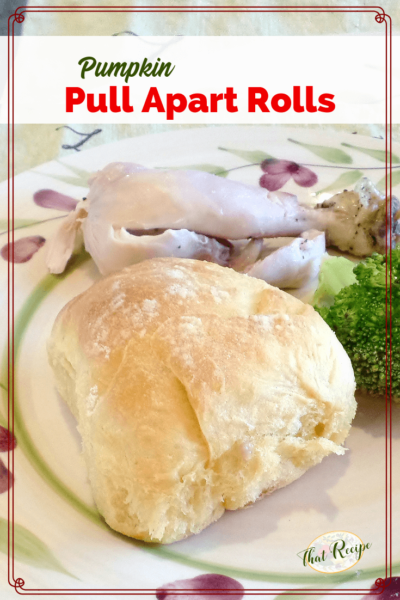 pumpkin pull apart roll on a plate