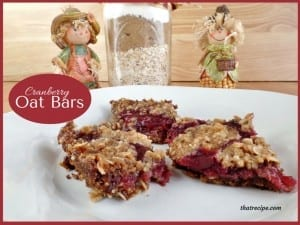 Cranberry Oat Cookie Bars