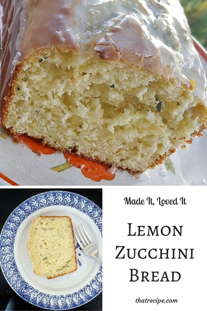 Lemon Zucchini Bread from Like Mother Like Daughter - delicious lemony quick bread made with shredded zucchini.