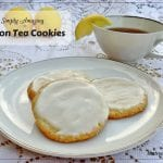 Lemon Tea Cookies - buttery crisp cookies with loaded with lemon flavor. Perfect for a Tea Party or any time.