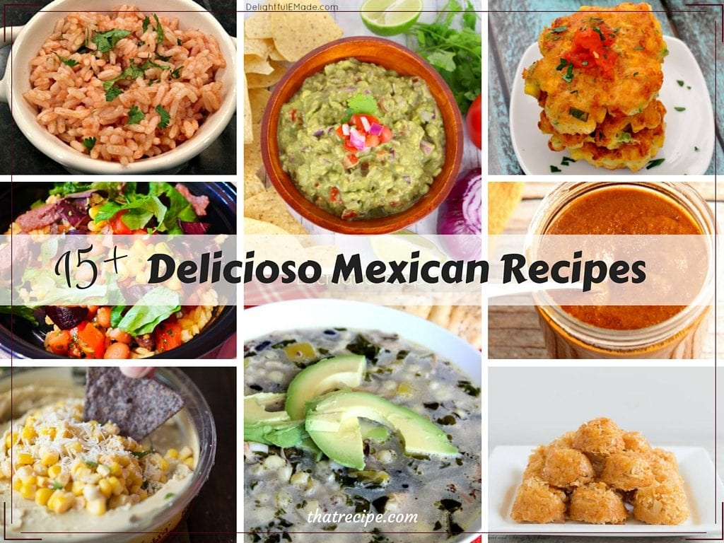 15+ Delicious Mexican recipes from the Tasty Tuesdays bloggers.