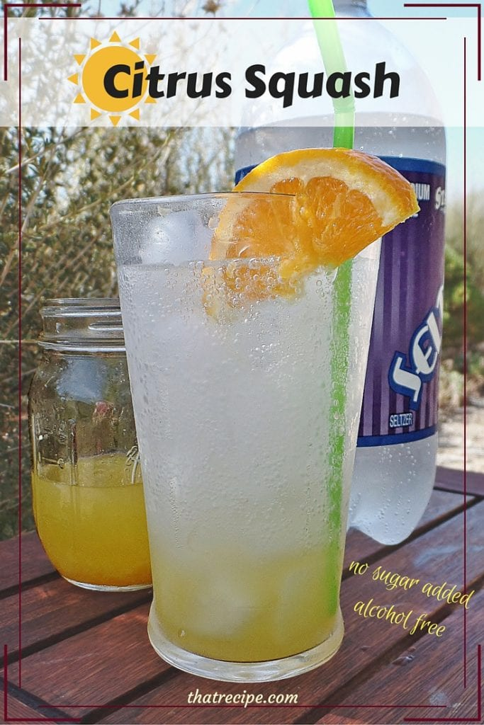 Citrus Squash - alcohol free sparkling drink made with lemon, lime and orange. No sugar added. Can be used in mixed drinks. Lemon Squash. Lime Squash.