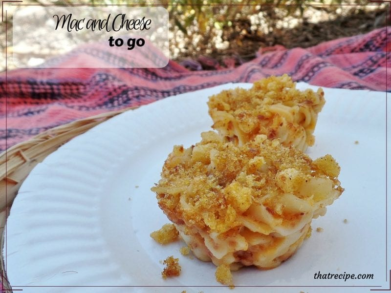 Mac and Cheese Muffins - bake macaroni and cheese in muffin pans to take on the go. Great for picnics or back to school.
