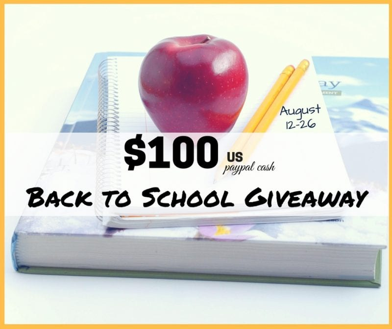 $100 Back to School Giveaway