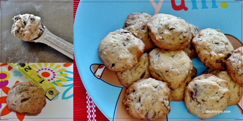 Famous Amos Chocolate Chip Cookies Copycat recipe - tiny crispy chocolate chip cookies similar to the ones in the store.