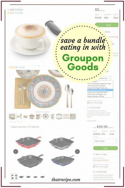 Save a Bundle Eating In with Groupon Goods: Groupon isn't only for dining out anymore. Save on household goods and food as well. #ad #sponsored