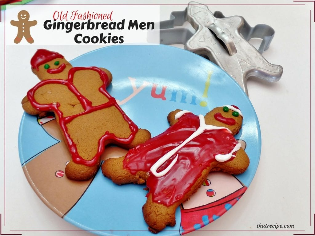 Gingerbread Men Cookies: Easy recipe for traditional gingerbread men cookies. Christmas cookies.