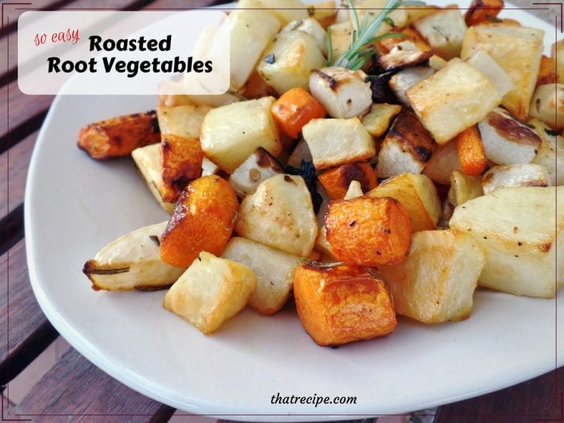 Easy Side Dish: Rosemary Garlic Roasted Root Vegetables