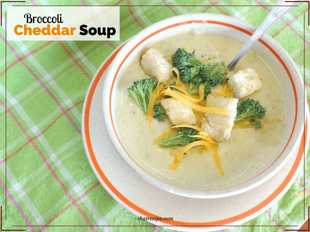 bowl of broccoli cheddar soup