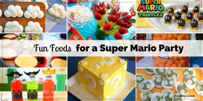 Super Mario Party food: Fun foods with a Super Mario Bros. theme for Mar10 Day or a Super Mario Birthday Party.