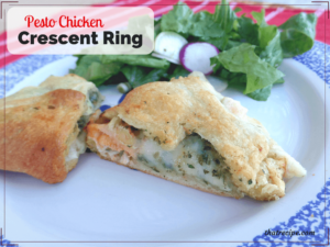 chicken crescent ring slice on a plate