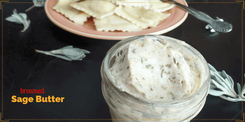 Browned Sage Butter is so simple but it adds a delicious layer of complexity to vegetables, pasta, bread or even meat and fish.