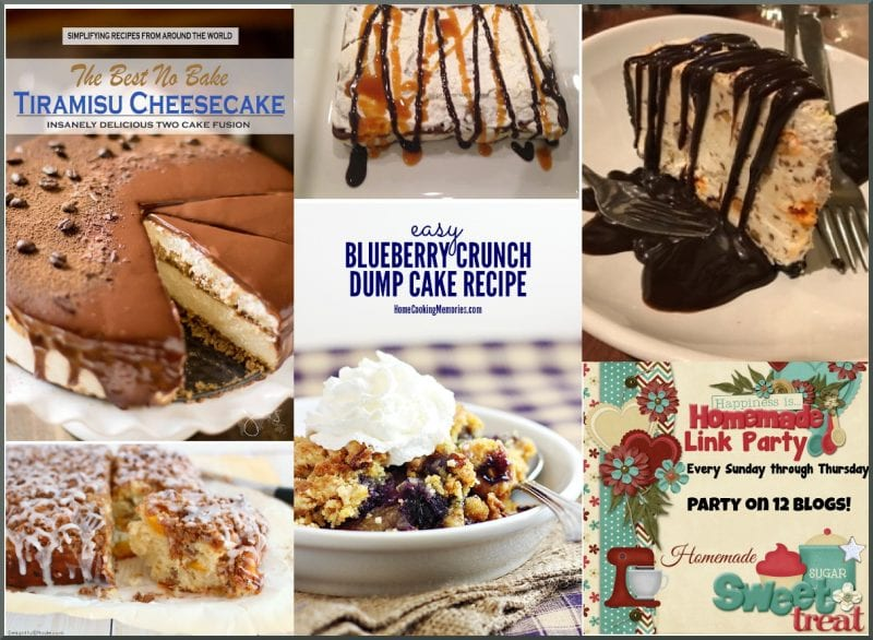 Summer Desserts on Happiness is Homemade - crumb cake, cheesecake, dump cake, ice cream cake, cobbler.