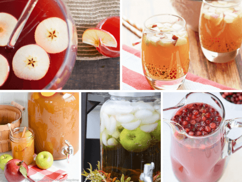 collage alcohol free punch recipes with fall flavors