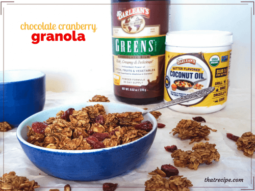 Homemade Chocolate Granola, make your own healthy chocolaty breakfast cereal.