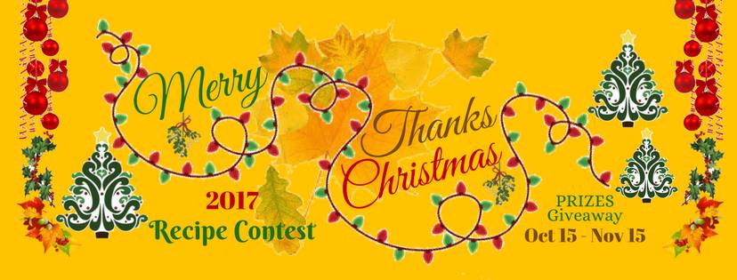 Thanksgiving and Christmas recipe contest and giveaway.