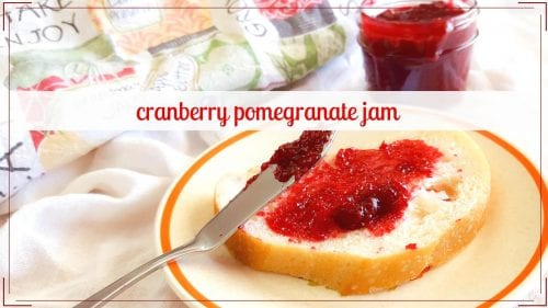 Pomegranate Cranberry Jam helps you preserve two favorite Fall flavors to enjoy later in the year. Easy pectin free jam.