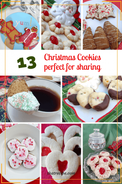 Christmas Cookie Recipes perfect for holiday gift giving or for getting your own taste of the season. #christmascookies